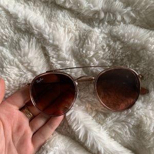 Ray-Ban Double Bridge Sunglasses - Rose Gold!